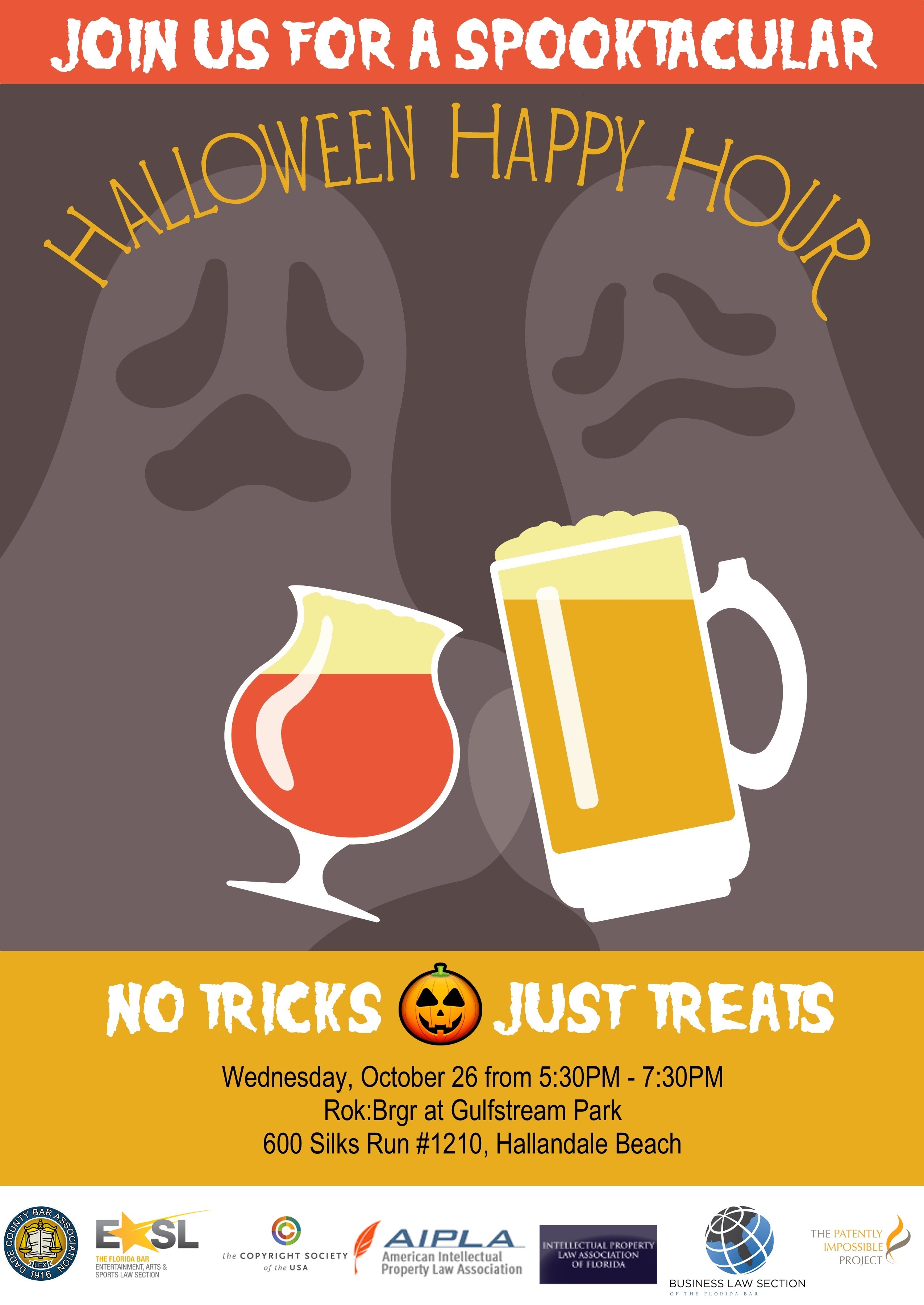 don t forget halloween happy hour this wednesday in hallandale ip halloween happy hour invitation